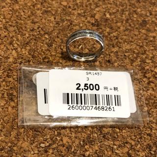新品 未使用 キラキラステンレス ピンキーリング3号(リング(指輪))
