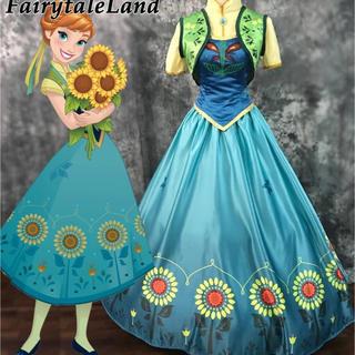 アナと雪の女王 エルサのサプライズ ドレス コスプレ 衣装 アナ