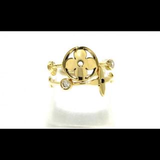 ルイヴィトン(LOUIS VUITTON)のルイ・ヴィトン バーグ・モノグラム スキン ダイヤ リング YG 指輪(リング(指輪))