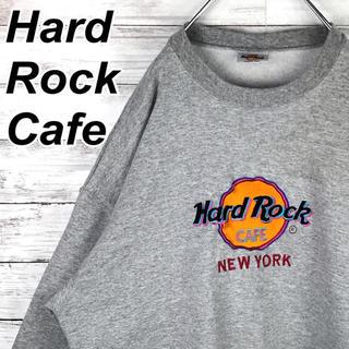ハードロックカフェ スウェット トレーナー 刺繍ロゴ USA製 ビンテージ