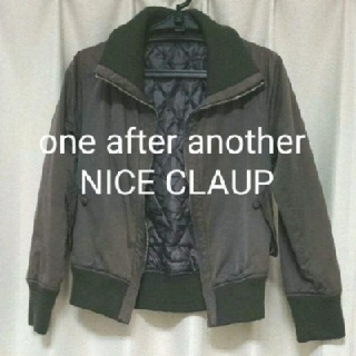 one after another NICE CLAUP - レディース ブルゾン グレー 灰色 ユニクロ UNIQLO アウター