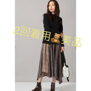 JEANASIS - 美品 JEANASIS クレイジーパターンアシンメトリースカート