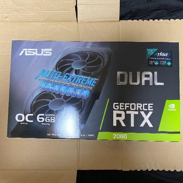 ASUS(エイスース)の新品未開封 ASUS DUAL-RTX2060-O6G-EVO スマホ/家電/カメラのPC/タブレット(デスクトップ型PC)の商品写真