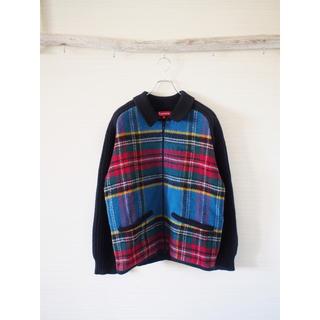 Supreme - 【Supreme】plaid front zip sweater
