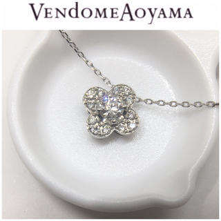 Vendome Aoyama - ヴァンドーム青山 Pt950/850 ダイヤモンド フラワー ネックレス 花