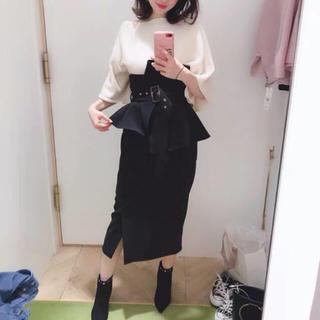 snidel - 大人気❤ハイウエスト ポンチタイトスカート ブラック Sサイズ