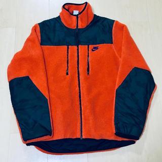 ナイキ(NIKE)の美品 Nike ナイキ ボア フリース x ナイロン ジャケット オレンジ L(その他)