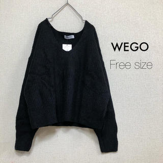 WEGO - WEGO  BROWNY⭐️新品⭐️クロップドセーター ブラック