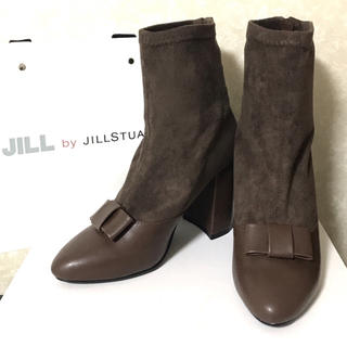 JILL by JILLSTUART - 【新品・未使用品♡】ジルバイ☆ストレッチ リボンミドルブーツ ブラウン