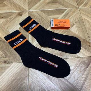 HERON PRESTON ヘロンプレストン ソックス 靴下 ブラック