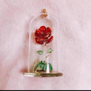Disney - 美女と野獣 ガラス バラの花