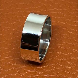 平打ち シルバー925 リング  20号 ワイド 幅広 プレーン ギフト 銀指輪(リング(指輪))