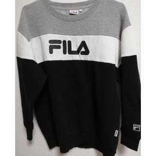 最終価格💖  FILA フィラ スウェット 裏起毛 ビッグロゴ X L