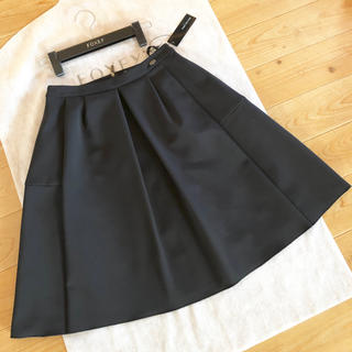 FOXEY - ☆FOXEYフォクシー☆タックフレアースカート♪タグつき超美品♪