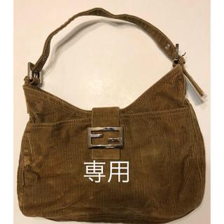 FENDI - FENDI Corduroy Shoulder Bag Beige
