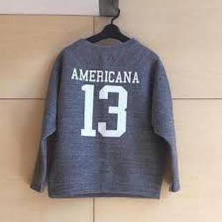AMERICANA - アメリカーナ グレー ナンバリング スウェット トレーナー トップス