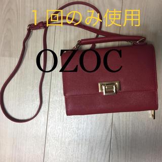 オゾック(OZOC)のOZOC ウォレット ショルダーバッグ 今秋購入 美品 赤 オゾック(ショルダーバッグ)