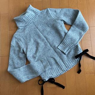 アンドクチュール(And Couture)のアンドクチュール リボンタートルネックニット(ニット/セーター)