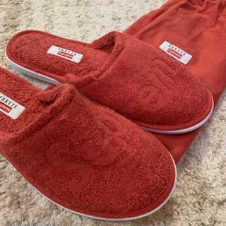 Supreme - Supreme Frette Slippers 赤US8-10