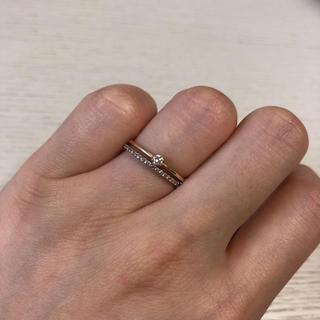 10金 k10 ゴールド 一粒ダイヤ ハーフエタニティ リング 指輪