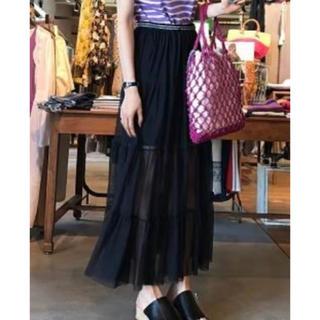 Mila Owen - ミラオーウェン 2wayチュールロングスカート 新品タグ付き