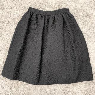 プラダ(PRADA)の極美品 正規 PRADA プラダ ブラック スカート(ひざ丈スカート)