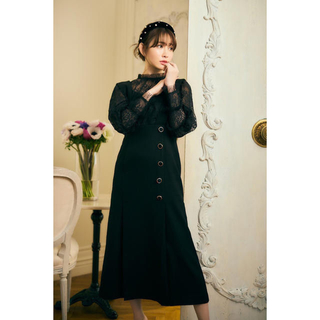 herlipto Lace-Trimmed Bella Midi Dress