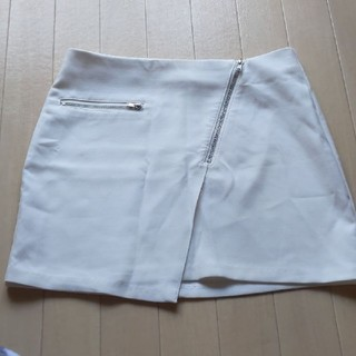 H&M 白 ホワイト ミニスカート