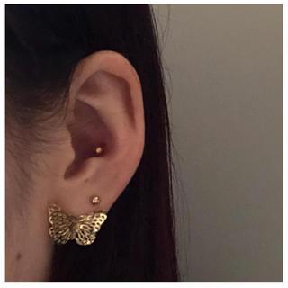 butterfly gold pierce