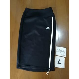 adidas レディースL ジャージスカート黒L 未使用タグ付
