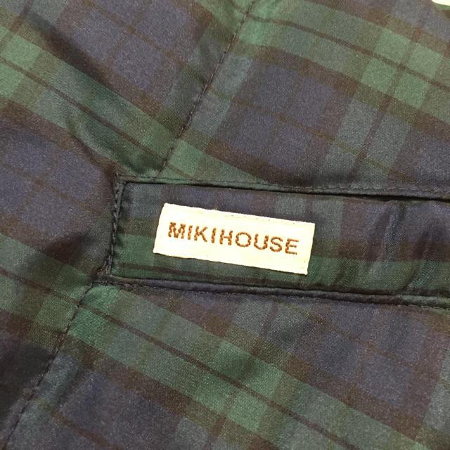 mikihouse(ミキハウス)のmikihouse中綿リバーシブルベスト キッズ/ベビー/マタニティのキッズ服男の子用(90cm~)(ジャケット/上着)の商品写真