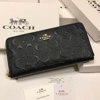 COACH - セール!コーチ 新品 人気 男女兼用 ブラック 長財布