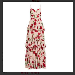 BCBGMAXAZRIA - BCBG バラ柄ドレス