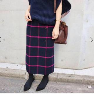 IENA - IENA Wフェイスリバーシブル ミッドカーフスカート◆ピンク サイズ38