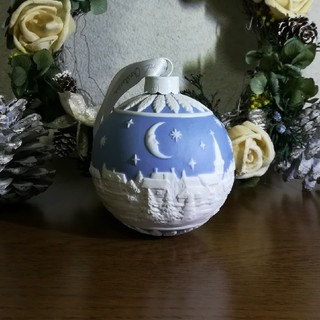 ウェッジウッド(WEDGWOOD)の【新品】送料無料 ウェッジウッド オーナメント クリスマスの夜空(置物)