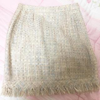 ドゥーズィエムクラス(DEUXIEME CLASSE)の新品 ドゥーズィエムクラス ツイード   スカート デート服 冬 オシャレ(ミニスカート)