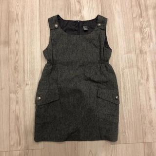 ザラキッズ(ZARA KIDS)のZaraザラジャンパースカート ワンピースツイードグレー綺麗目116cm5-6y(ワンピース)