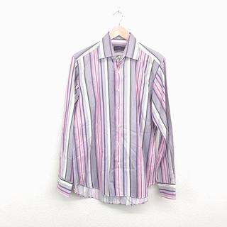 エトロ(ETRO)の美品 ETRO エトロ メンズ マルチストライプ シャツ L 長袖 おしゃれ(シャツ)