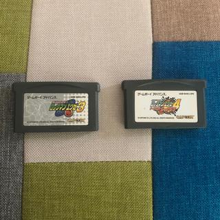 ゲームボーイアドバンス(ゲームボーイアドバンス)のロックマンエグゼ3 ロックマンエグゼ4トーナメントレッドサン(携帯用ゲームソフト)