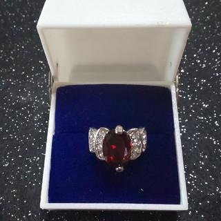 ファッションリング  赤茶 ジルコニア(リング(指輪))