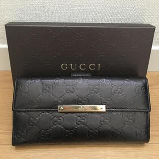Gucci - 美品 グッチ 長財布 シマ レザー