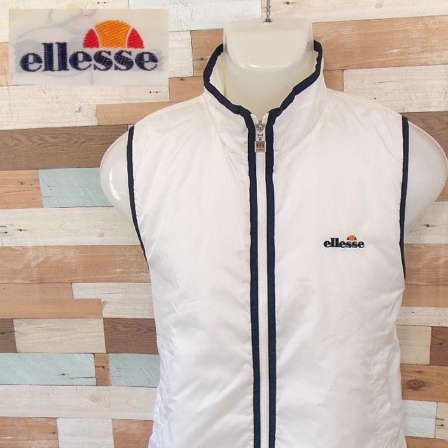 ellesse(エレッセ)の【ellese】 美品 エレッセ ホワイト中綿ベスト サイズS メンズのトップス(ベスト)の商品写真