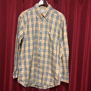 BURBERRY - ✩.*˚【美品】バーバリー☆定番ノバチェックシャツ 90s メンズL✩.*˚