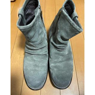 ユナイテッドアローズ(UNITED ARROWS)のモンキータイム スウェードサイドジップショートブーツ メンズ27.5cm(ブーツ)