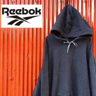 Reebok - ☆ビッグサイズ☆リーボック☆ワンポイント☆プルオーバーパーカー ブラック