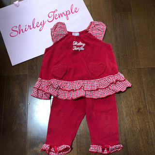 Shirley Temple - シャーリーテンプル  shirley temple セットアップ赤