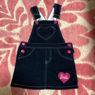 バービー(Barbie)のジャンパースカート バービー ハート ネイビー 100サイズ(ワンピース)