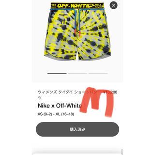 オフホワイト(OFF-WHITE)のナイキ x オフホワイト™ ウィメンズ タイダイ ショートパンツ(ウェア)