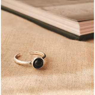 シルバーリング ブラックパール S925   *ARN008-SR00(リング(指輪))