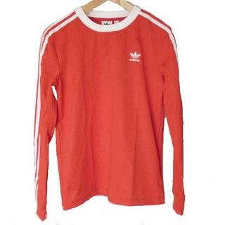 アディダス(adidas)の新品◆(M)アディダス 赤トレフォイルモノグラム3stロンT(Tシャツ(長袖/七分))
